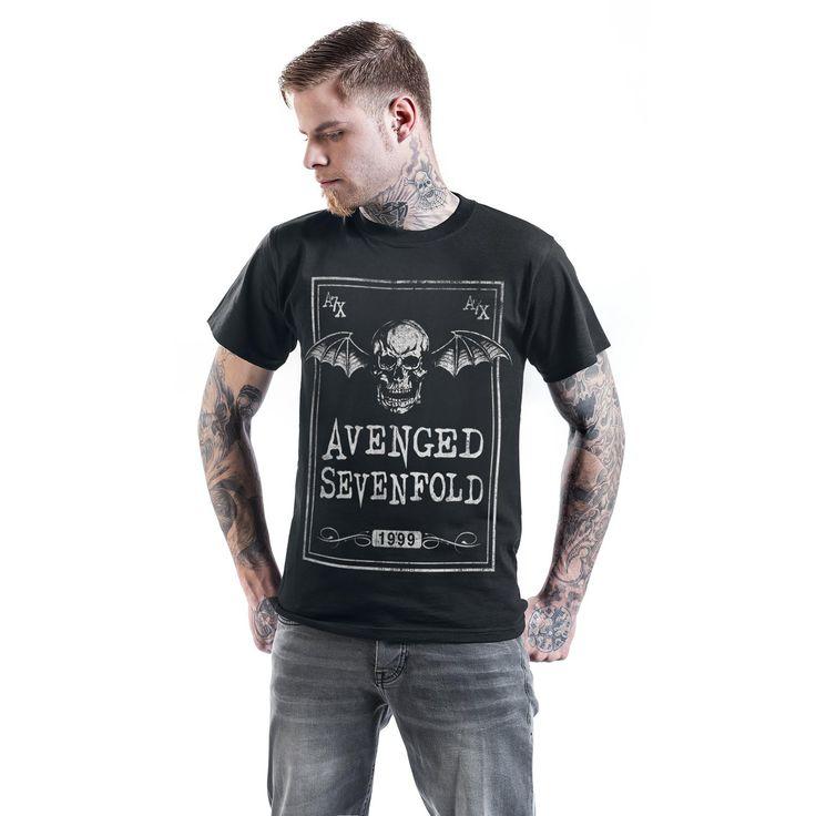 "Classica T-Shirt uomo nera ""Face Card"" degli #AvengedSevenfold."