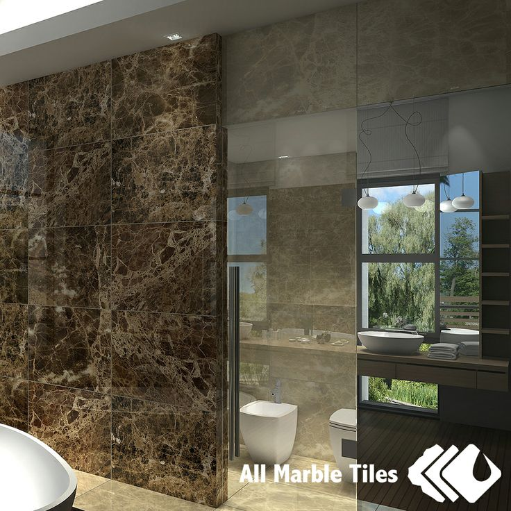 38 best dark emperador marble tile mosaic collection for Bathroom designs in italian marble