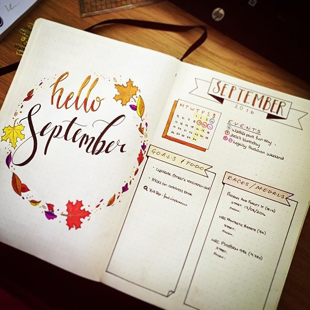 Hello #September. New spread 50% done - now for the #habittracker and #memories page. . . . #bulletjournaljunkies #bulletjournal #bulletjournallove #bulletjournalnewbie #planneraddict #monthlyspread #monthlyplanner #bujo #bujojunkie