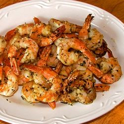 "Basil Shrimp - ""This is one of the most delicious shrimp recipes for the BBQ I have ever had, and it is so easy."""