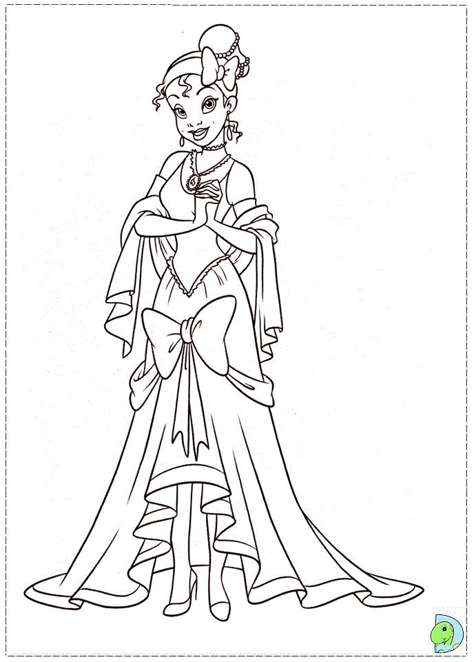 Walt Disney Coloring Page Of Princess Tiana From The And Frog 37100082