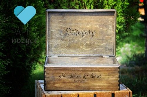 """Wedding Card Box"" - kufer na koperty ślubne"