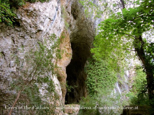 In these caves the Cathars lived