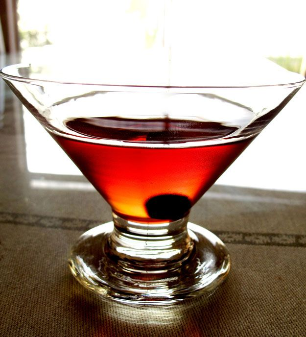 The Manhattan. It was sophisticated in the Mad Men mid century modern era - and its still sophisticated today. Whiskey, Sweet Verouth, Bitters, a Cherry, and a twist of Orange Peel.