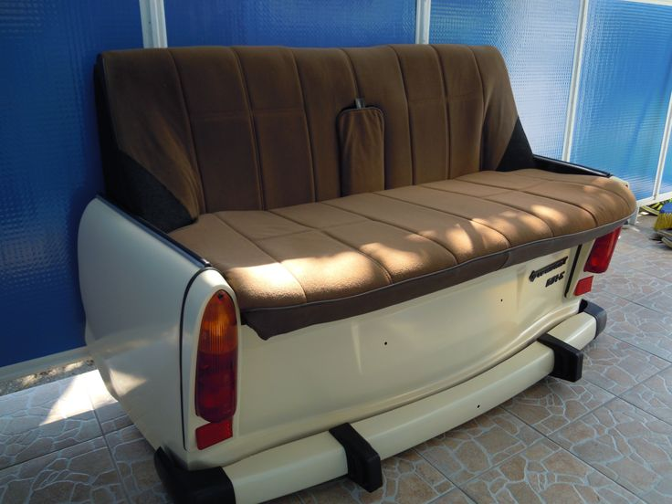 601s Trabant sofa custom made sold to a guy in Germany and used as a sofa in a tattoo parlor,cool.