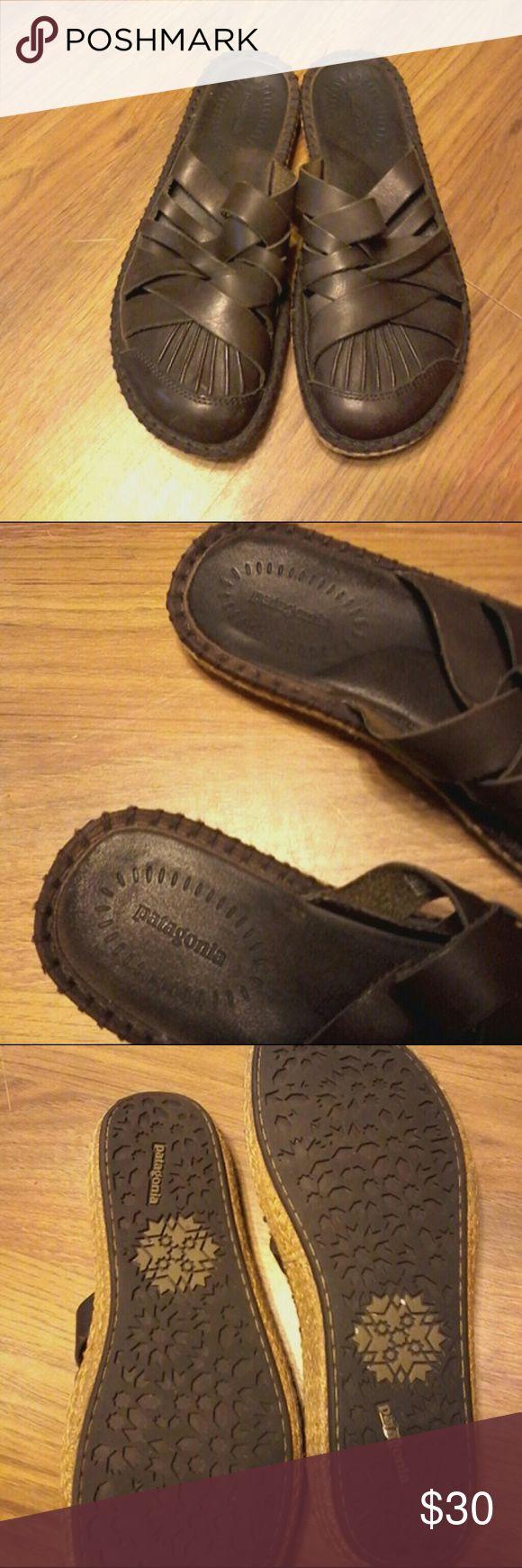 Patagonia Slides Makore Dark Brown Patagonia Shoes