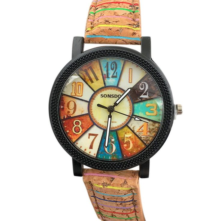 Antique Turntable Pattern Leather Band Analog Quartz Watch - https://empyrean.store