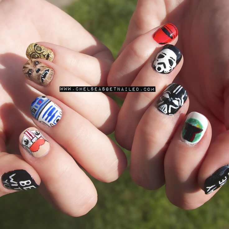 Star Wars Day nail art created by Chelsea King: http://chelseaqueen.com/star-wars-day/
