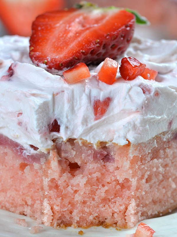Strawberry Sheet Cake is perfect spring and summer crowd-pleaser dessert. It's easy dessert recipe for super moist, homemade fresh strawberry cake with strawberry cream cheese frosting.