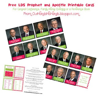 Prophet Printable cards...@Our Hands His Hands