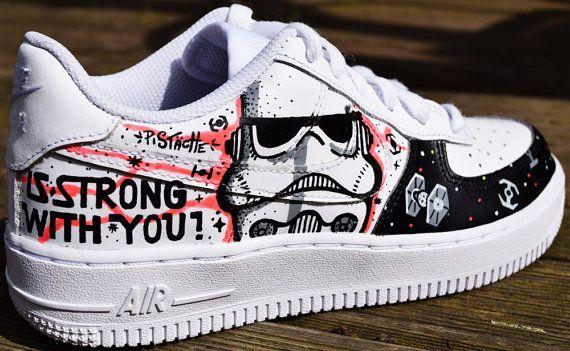 STAR WARS PAiNTED SHOES Benutzerdefinierte Tritte Sneakers