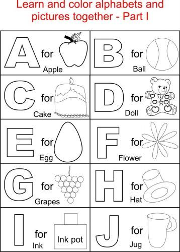 alphabet coloring sheets for toddlers 2