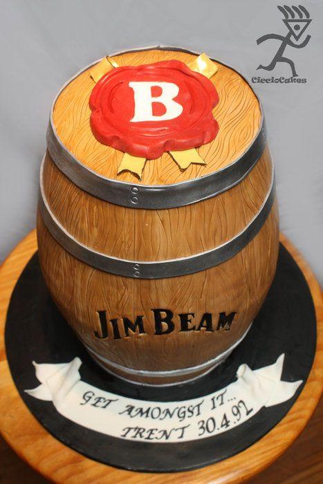 Jim Beam Whisky Barrel 31KG | Barrel cake, Bourbon cake ...