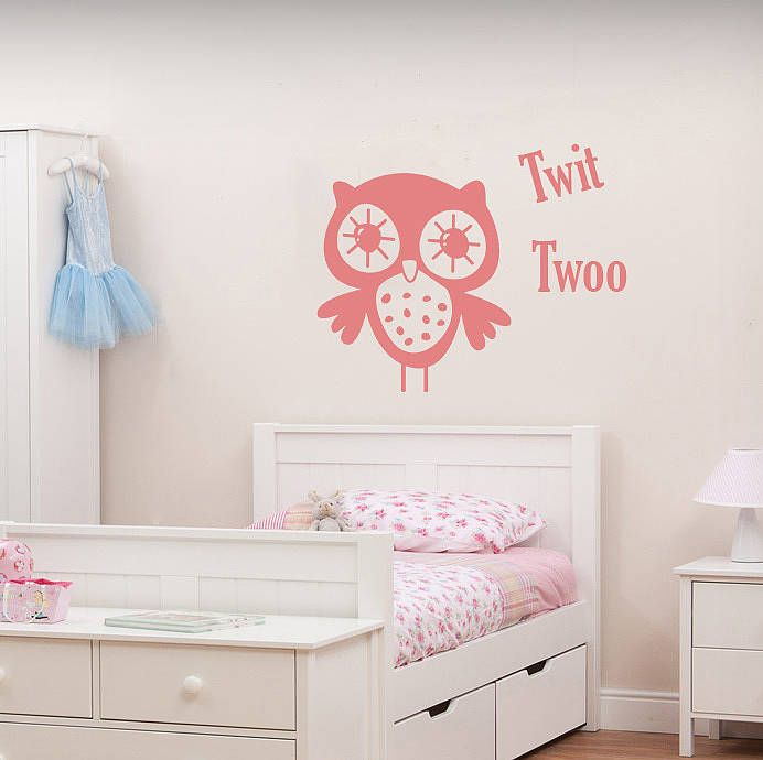 Twit twoo owls wall art decal by hush baby sleeping notonthehighstreet com