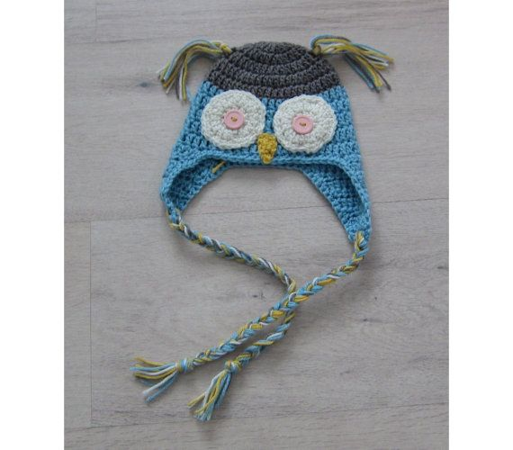 Crochet owl hatowl hat for babynewborn owl by Amaiahandmade