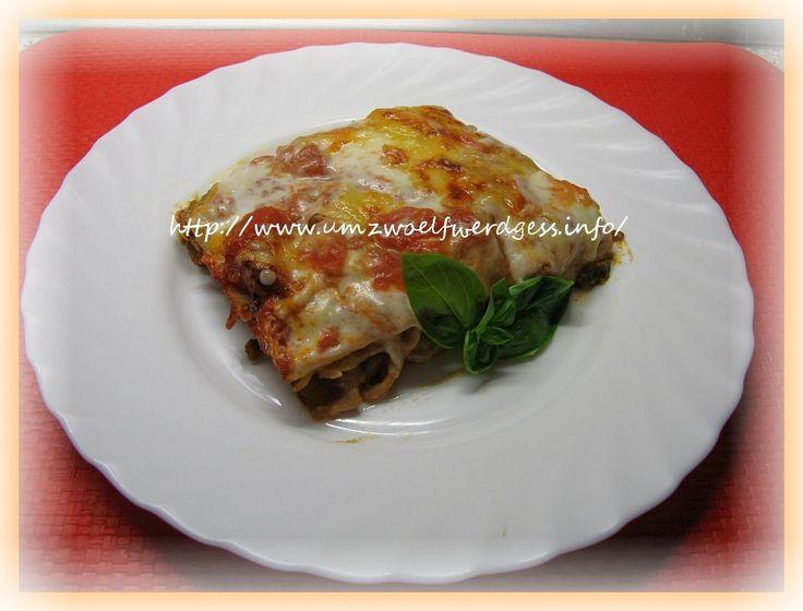 Lasagne mit Linsenbolognese