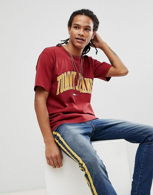 9d90d8cdfcfbff Tommy Jeans Collegiate Capsule T-Shirt in Red | asos men | Shirts ...