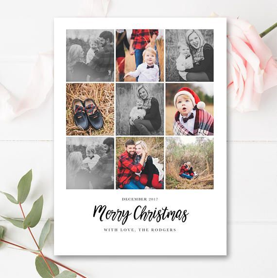 Year In Review Christmas Card Template 5x7 Photo Card Free Etsy Christmas Card Template Card Template Christmas Cards