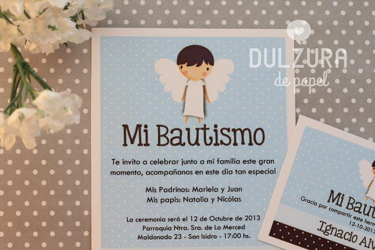 Invitación Bautismo nene #angelito #invitacion #imprimible