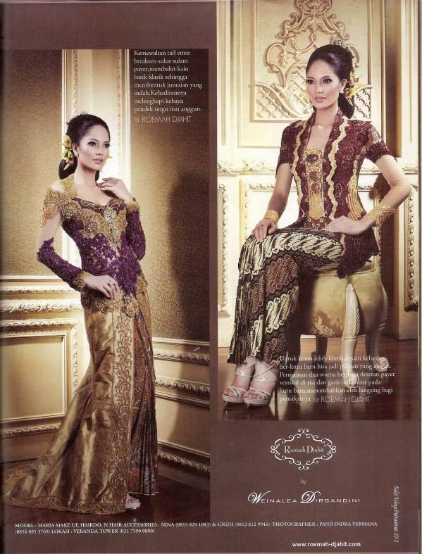 roemah djahit for majalah perkawinan edisi khusus kebaya 2011