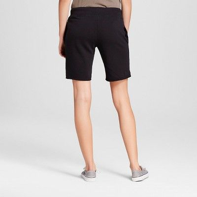Women's French Terry Bermuda Shorts Black XS - Mossimo Supply Co.