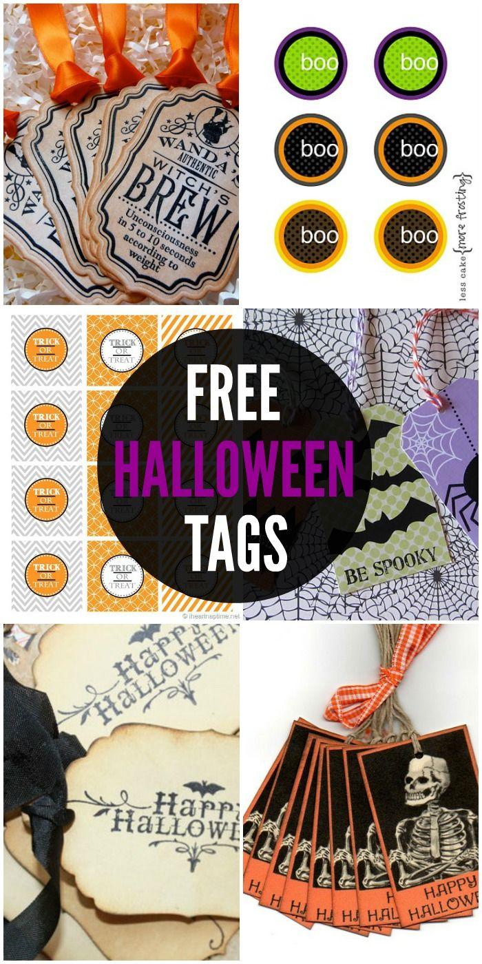 FREE Halloween Tags - a collection of free printable tags on { lilluna.com }