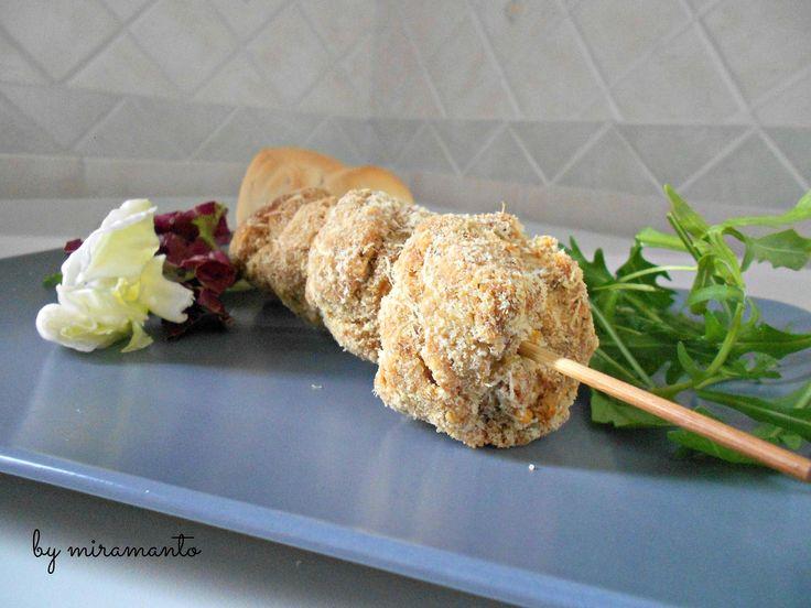 Polpette+di+pane+e+patate+al+forno/Ricetta+secondi
