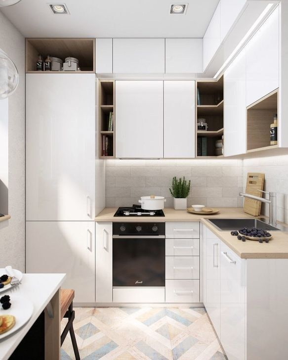 20 Small Kitchens That Prove Size Doesn T Matter Small Modern Kitchens Small Apartment Kitchen Small Kitchen Decor