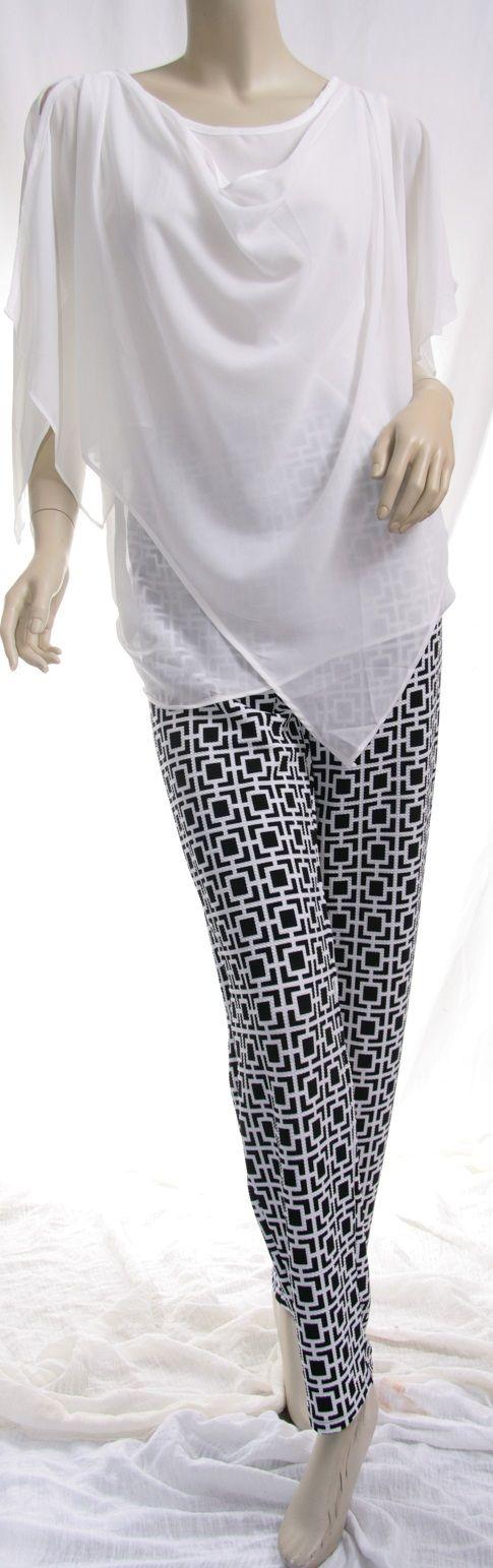 pants top plain printed pants