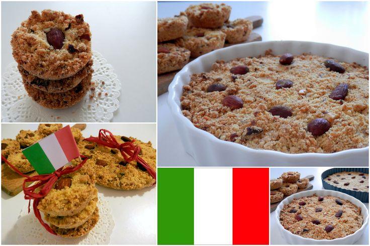 Italian Crum pie - Sbrisolona  Recipe here: http://bakingtheloveofmylife.blogspot.cz/2013/10/italie-sbrisolona-drobenkovy-kolac.html#eng