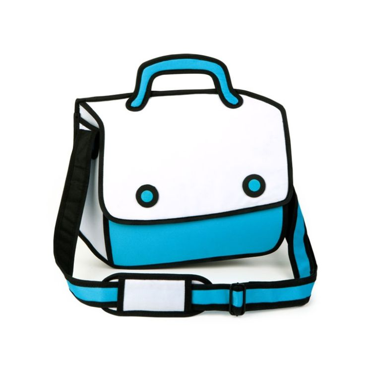 Play Hookie bag - a modem messenger bag designed to look like 2D drawing   Designer: JumpFromPaper™