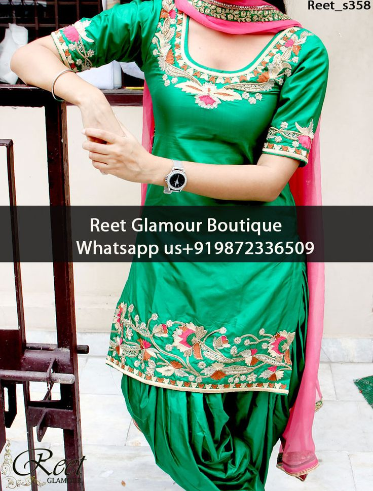 Fantastic Green And Pink Embroidered Punjabi Suit Product Code : Reet_s358 To Order, Call/Whats app On +919872336509 We Offer Huge Variety Of Punjabi Suits, Anarkali Suits, Lehenga Choli, Bridal Suits,Sari, Gowns Etc .We Can Also Design Any Suit Of Your Own Design And Any Color Combination.