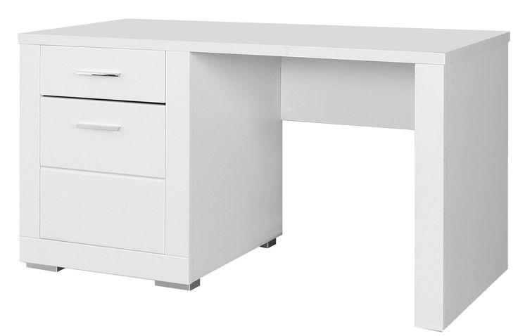 Schreibtisch Jugendzimmer Steffi in der Farbe weiß - zeitlos und unendlich kombinierbar passend zur Jugendzimmerserie Steffi 1 Schreibtisch mit 1 Türe und 1   Schubkasten... #schreibtisch #kinder #jugendzimmer