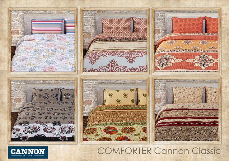 Comforter Cannon Classic Printed 50% Cotton 50% Polyester 144TC Microfiber Filling