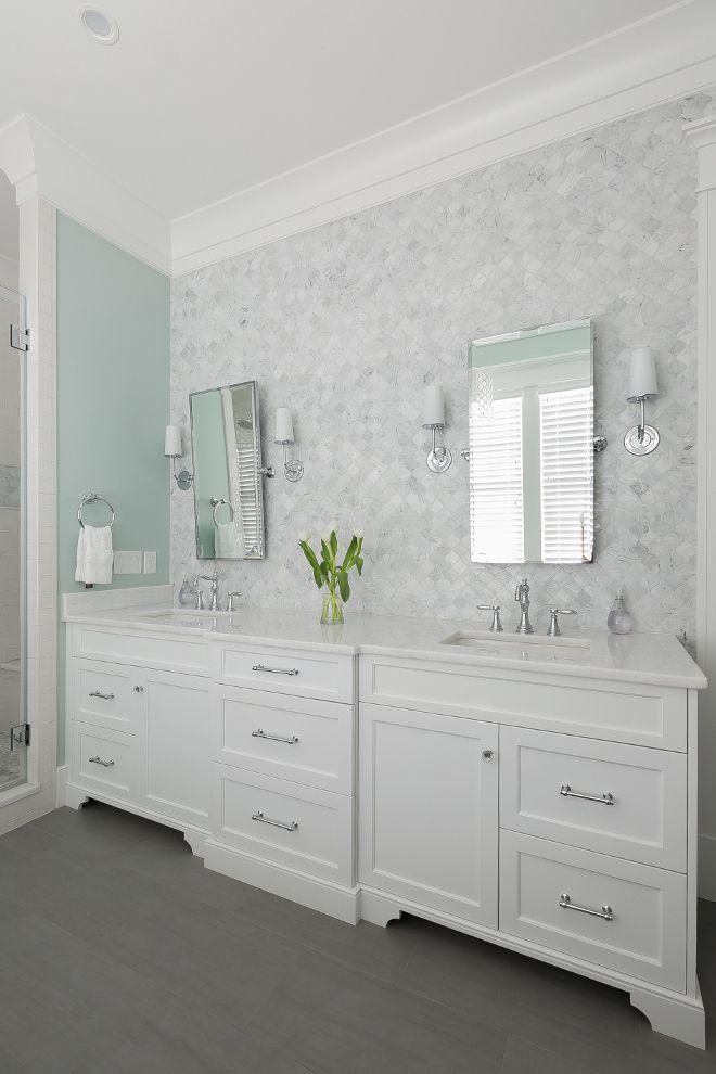 Transitional Bathroom Bianco Carrara Artistic Tile Etoile Mosaic Wood Tile Wood Tile Bathroom Floor Www