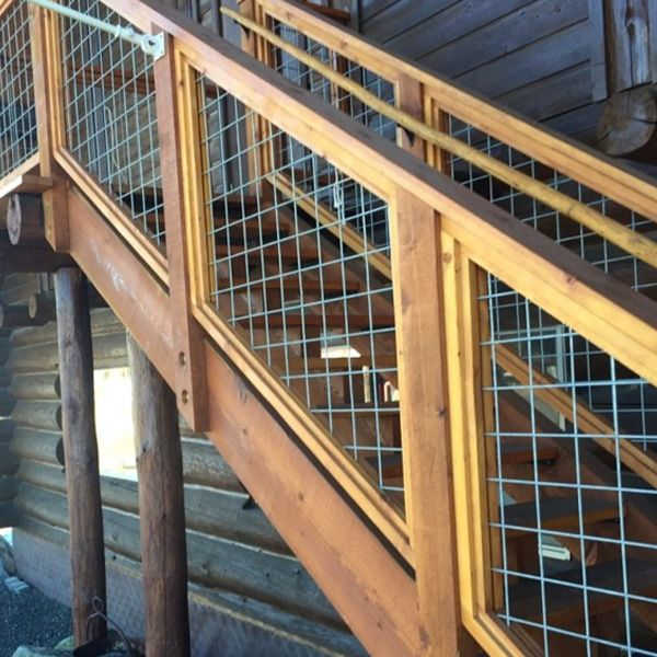 Welded Mesh Stair Fence Rail Panels By Wild Hog Railing Building