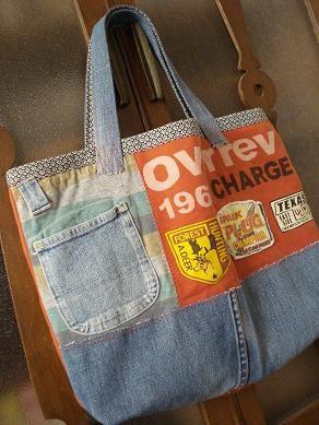 息子の入学時に作った通学バッグ、 3年たって、ボロボロに・・・ 絶対振り回したり引きずったりしてたに違いない (ーー;) というわけで、新たに作...