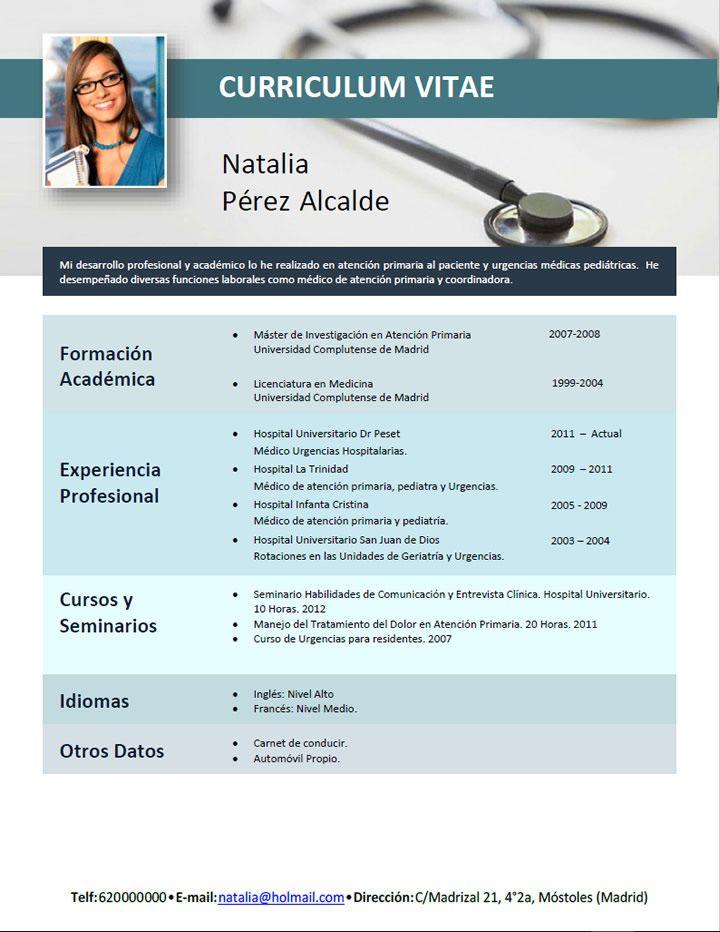 Curriculum Para Medicos Creamos Curriculums Especiales Para Enfermeras Entra A Nuestra Web Elige Tu Plantilla Y No Curriculum Vitae Teaching Jobs Curriculum