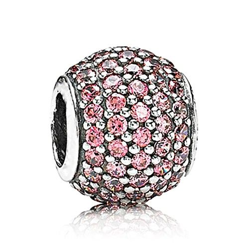 August Daily Deal Pink Round Crystal Charm 925 Silver Pandora Compatible - Soufeel