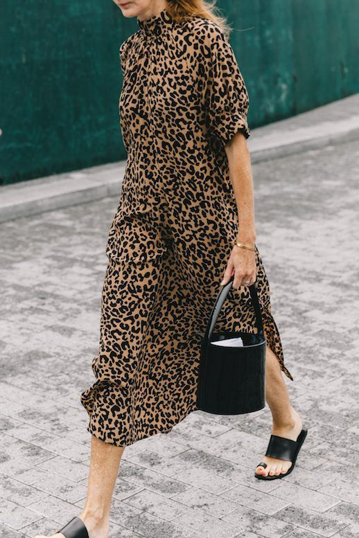 Try the Animal Print Dress Street Style Trend