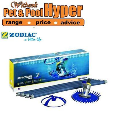 "#Zodiac Pacer B3 - The latest generation of the tried, tested and loved Pacer pool cleaner. The B3 has been specifically designed for smaller pools and is thus even more compact than other APC's in the Zodiac range. Testing programs, however also showed how rapidly and efficiently it will clean a larger pool too. ""Dynamite comes in small packages."" Well, this product just proves the theory. Available from Pet & Pool Hyper Witbank. #swimmingpool"