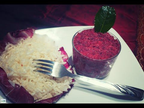 Raw vegan red radicchio
