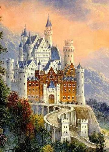 Cross stitch chart - Castle- holy mother of god that is amazing