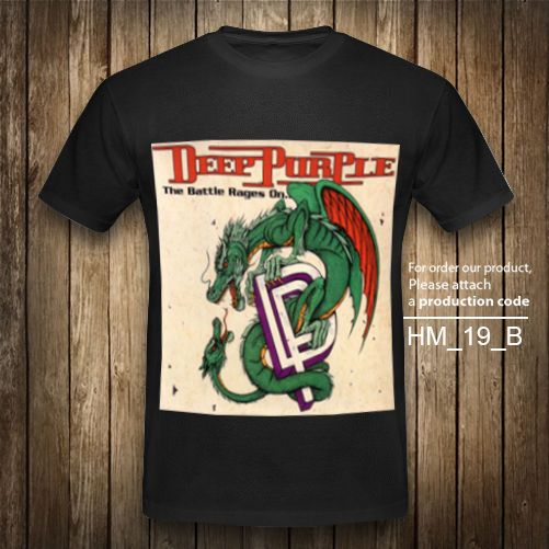 DEEP PURPLE T-Shirt The Battle Rages Heavy Metal Rock Band Vintage Black XS-2XL #Unbranded #GraphicTee