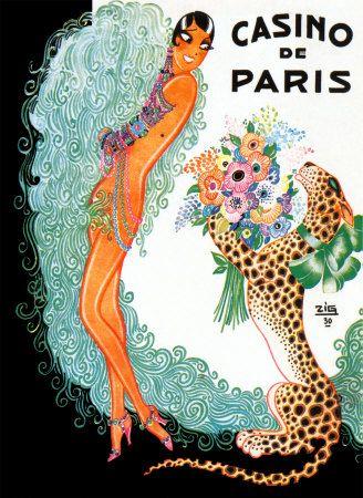 Josephine Baker: Casino De Paris Konsttryck