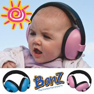 Banz Mini Baby Ear Muffs for Babies/Infants (Pink or Blue) 3m-2yrs