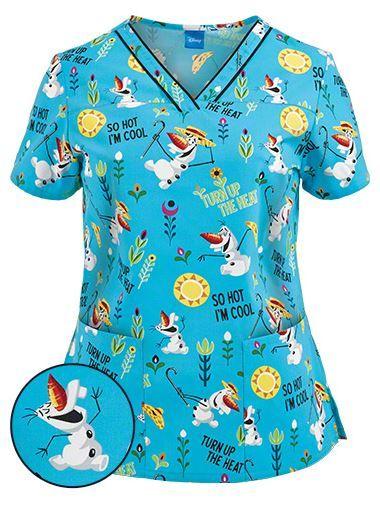 Frozen Scrub Top >> 64 best Cartoon character scrubs images on Pinterest | Scrub tops, Work blouse and Disney scrubs