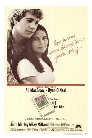 'Love Story', Ali Macgraw 1970.   1970's Music, Cinema, TV ...  Love Story 1970 Poster