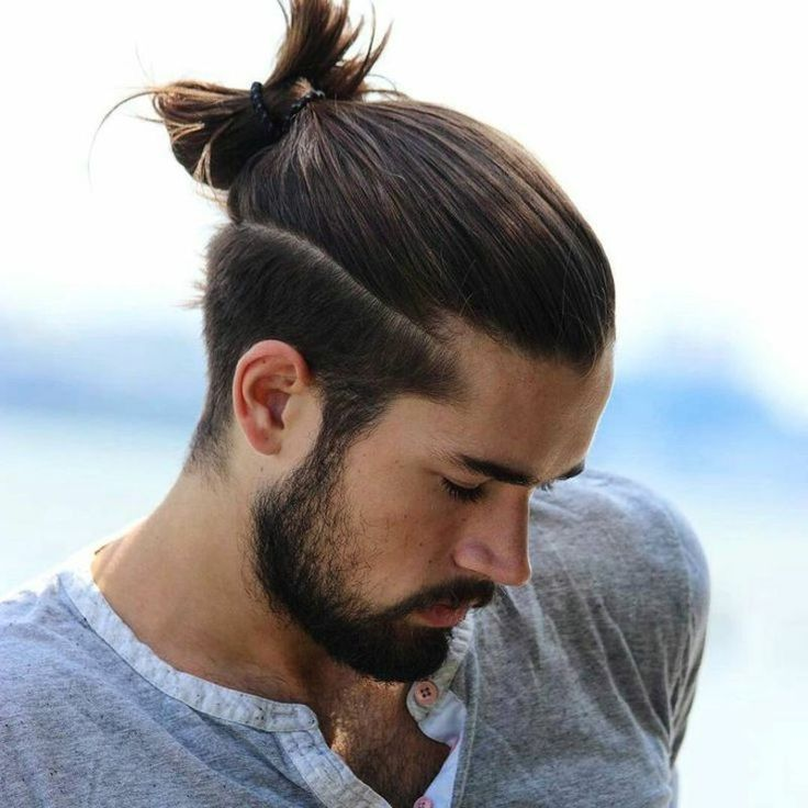 Hairstyles Long Hair Men Man Bun Hairstyles Curly Hair Men Long Hair On Top Long Hair Short Sides
