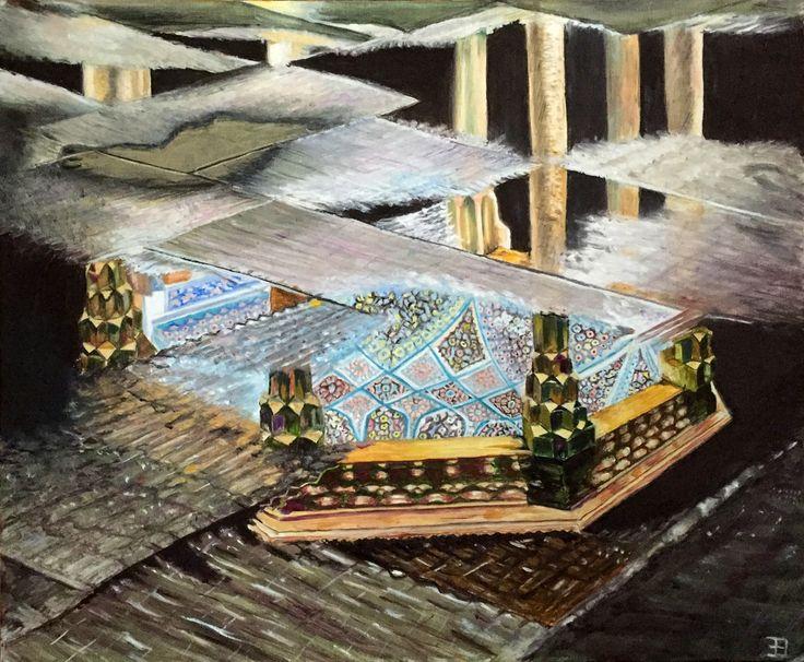 Hafez Temple mausoleum at Shiraz in Iran
